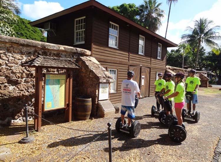 Segway Maui offers different tour routes, including the 2.5-hour Best of Lahaina Tour that takes guests to the town's Old Prison, built in the 1830s. // © 2014 Segway Maui