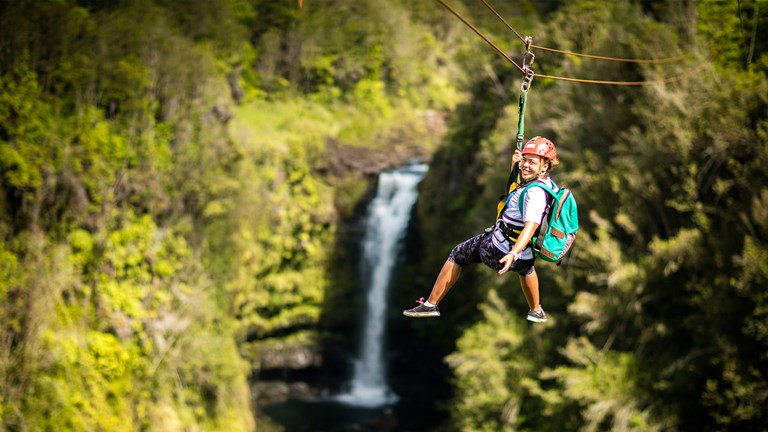 The east side of Hawaii Island is growing in popularity, and zipline tours with KapohoKine Adventures are adding to Hilo's appeal.