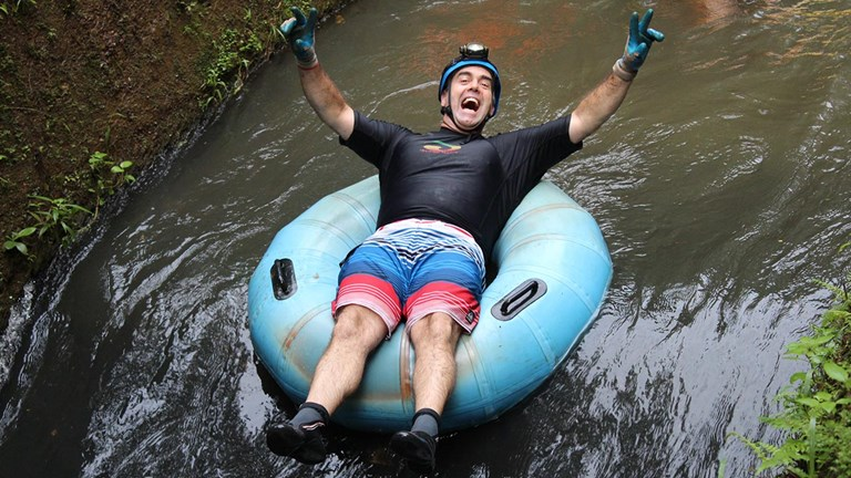 A tubing excursion is one of Kauai's top-selling tours.
