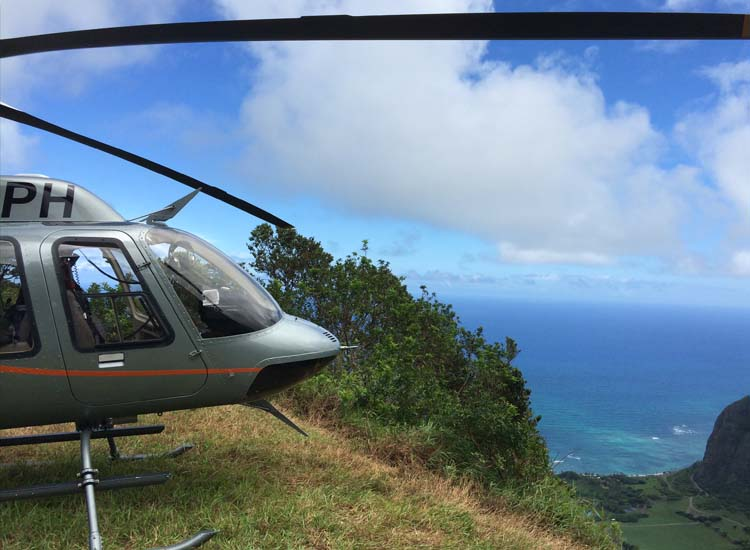 Guests who visit The Guidepost, a new experience center in the lobby, can choose from excursions options, including rides with Paradise Helicopters. // © 2015 Chelsee Lowe
