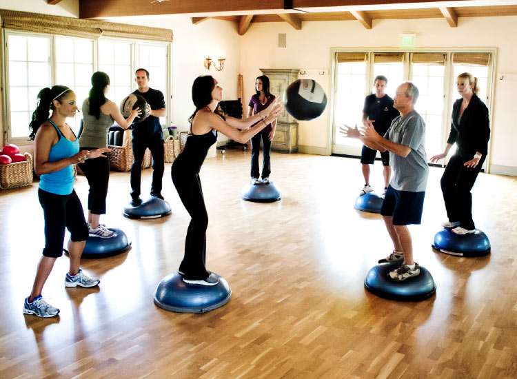 Cal-a-Vie guests choose from more than 30 fitness classes each day. // © 2015 Cal-a-Vie Health Spa