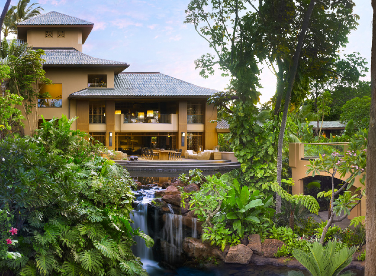 The recently renovated Four Seasons Resort Lanai has a tropical exterior. // © 2016 Four Seasons Resort Lanai