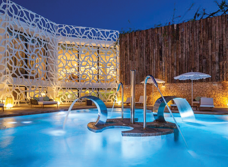 Choose from multiple pools at Hard Rock Hotel Ibiza in Spain. // © 2016 Hard Rock Hotel Ibiza