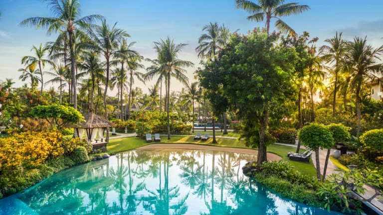 The Laguna has seven landscaped lagoons and pools. // © 2017 The Laguna, a Luxury Collection Resort & Spa, Nusa Dua, Bali