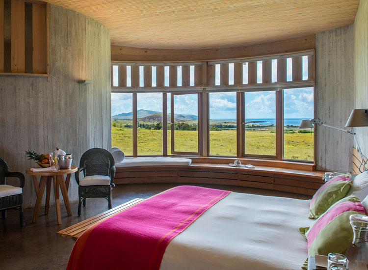 The Easter Island hotel does not have televisions or Wi-Fi access. // © 2017 Explora Rapa Nui