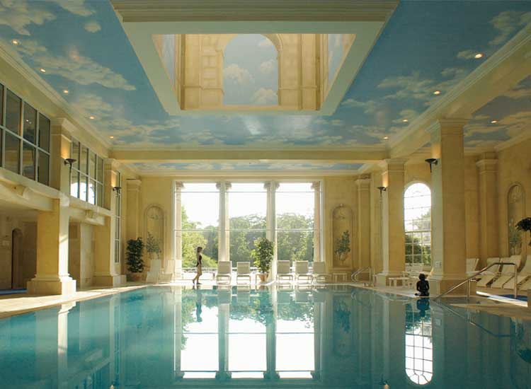 The spa at Chewton Glen features a Roman-style, ozone-treated pool. // © 2014 Chewton Glen
