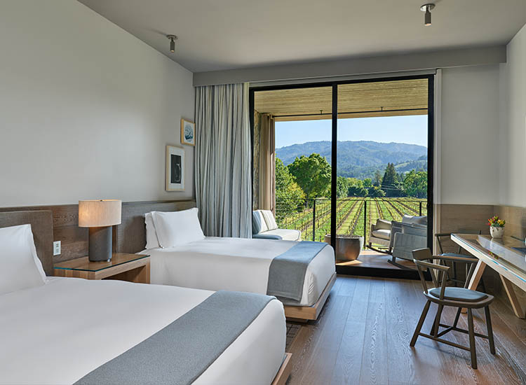 The hotel is the second property for the high-touch Las Alcobas boutique brand, which is part of the Luxury Collection. // © 2017 Las Alcobas, a Luxury Collection Hotel, Napa Valley