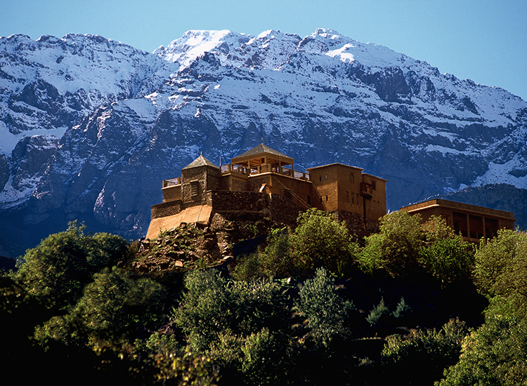 "National Geographic's ""unique lodges of the world"" collection comprises 24 boutique hotels, including the pictured Kasbah du Toubkal resort in Morocco, with a commitment to sustainable tourism. // © 2015 Kasbah du Toubkal/National Geographic Unique Lodges of the World"