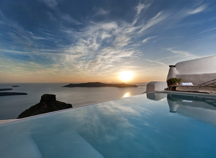 Aiming to sustain the character of Santorini, Kapari Natural Resort was built out of traditional materials. // © 2015 Kapari Natural Resort/National Geographic Unique Lodges of the World