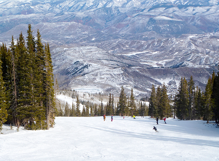 Views of downtown will greet clients skiing down Aspen Mountain. // © 2015 Zorianna Kit
