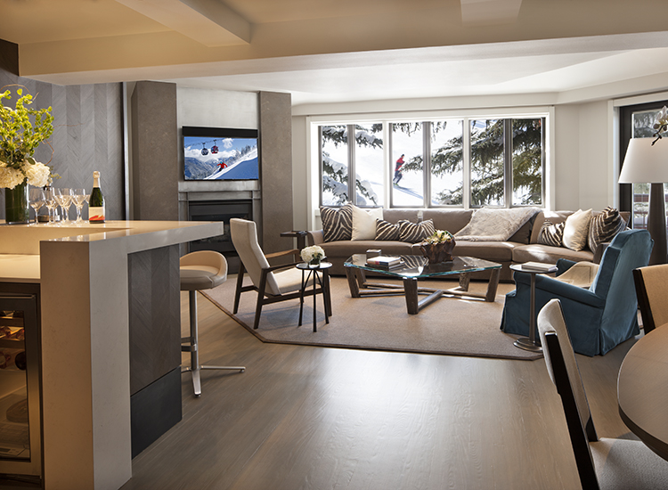 Pfeifer Suite is one of six luxury suites at the family-friendly and award-winning hotel, The Little Nell, in Aspen, Colo. // © 2015 David O. Marlow