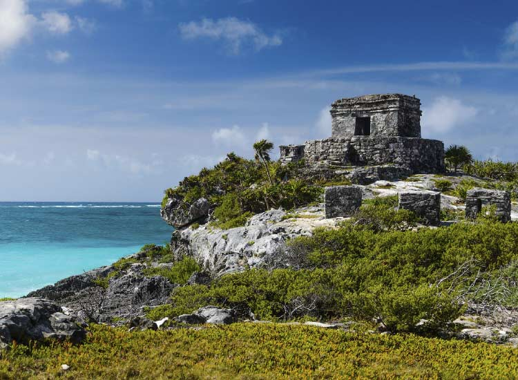 Another destination, Tulum, provides authentic Maya experiences not far from Cancun. // © 2015 Thinkstock