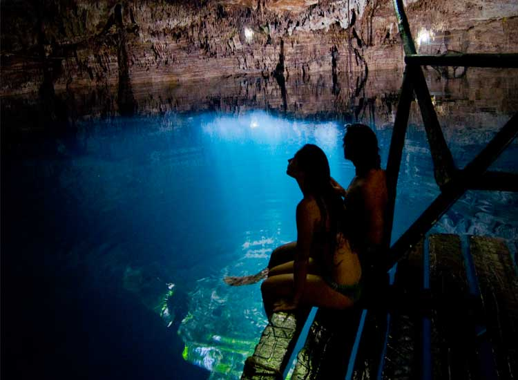 Cenotes are freshwater pools that are a popular attraction for visitors in Mexico's Yucatan Peninsula. // (c) Cancun CVB
