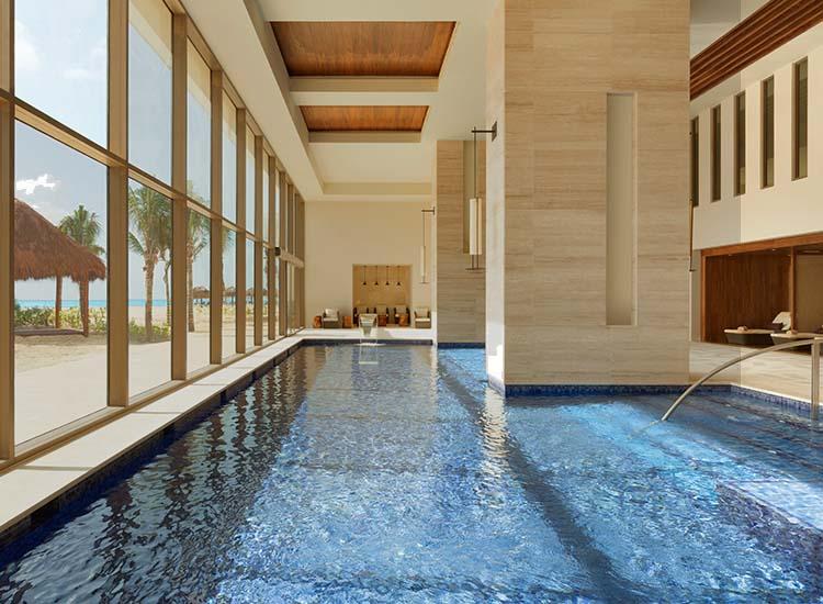 Hotel review hyatt ziva cancun travelage west for Pool zen spa