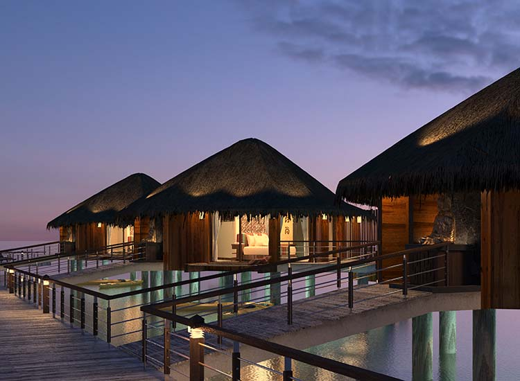 Karisma Hotels & Resorts will soon debut its overwater bungalows at El Dorado Maroma. // © 2016 Karisma Hotels & Resorts