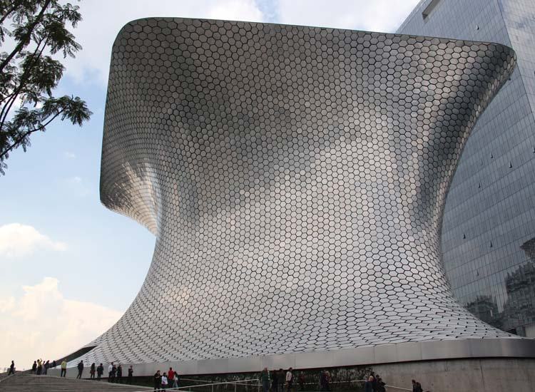 Among Mexico City's array of cultural museums is Museo Soumaya, free to the public and home to an extensive collection of art, religious artifacts and historical documents. // © 2014 Mark Chesnut