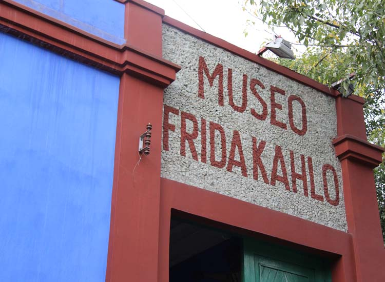 Another collection of artwork by Frida Kahlo and Diego Rivera can be found in the Museo Frida Kahlo, also known as La Casa Azul, or The Blue House. // © 2014 Mark Chesnut