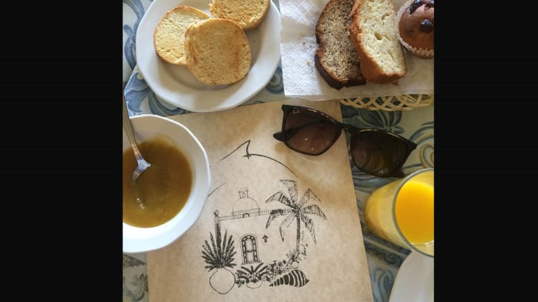 The Vasquez family runs the quaint property, and fresh-baked breads and homemade jams and juices are among morning snacks at the on-site El Delfin restaurant. // © 2015 Chelsee Lowe
