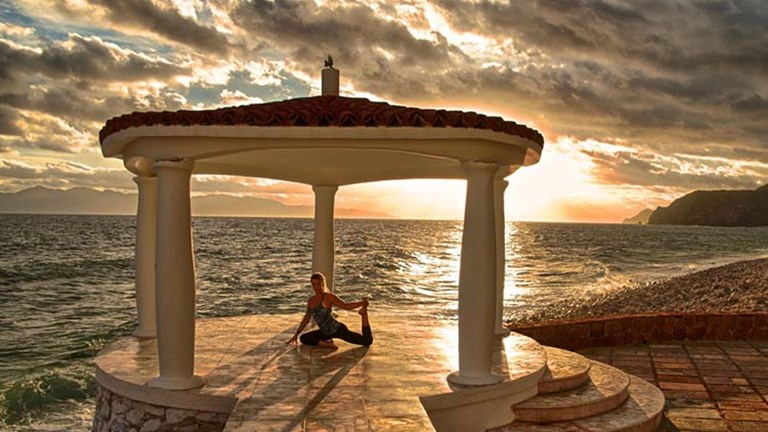 The practice of yoga has grown far beyond its Indian roots, giving visitors to Mexico plenty of spaces to get into the zone. // © 2016 Mexico Boutique Hotels
