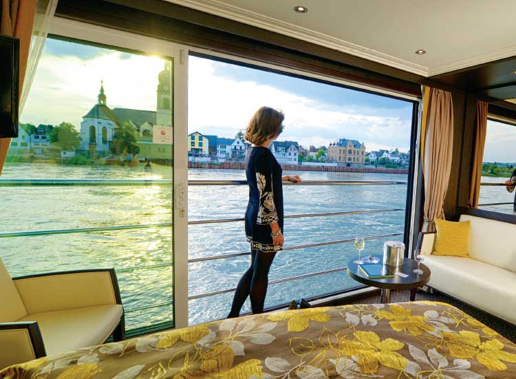 Over the years, Avalon has evolved to offer cutting edge features, such as the signature 11-foot wall of glass on Avalon's suite ships. // (c) 2014 Avalon Waterways