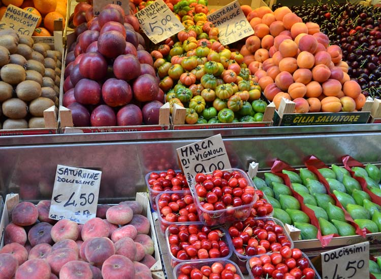 Bologna is known for its fresh cuisine and lovely markets.  // © 2013 Skye Mayring