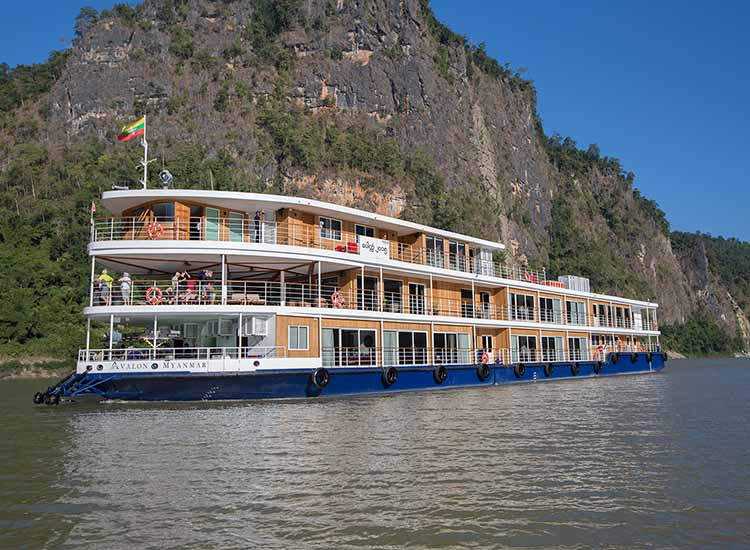 The Avalon Myanmar sails on the Irrawaddy River and includes destinations such as Mandalay and Bagan.