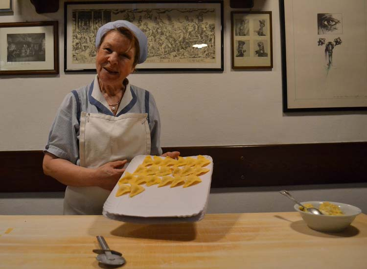 A pasta-making demonstration in Bologna is included in the itinerary. // © 2013 Skye Mayring