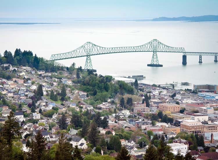 Astoria, Ore., is a favorite port city among cruisers on U.S. rivers. // © 2014 Thinkstock