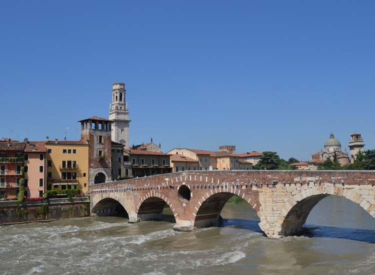 Verona is situated along the Brenta River. // © 2013 Skye Mayring