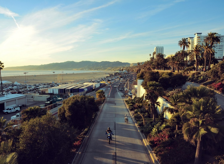 Rent a bike from Santa Monica Pier and cruise down the West Coast's signature Pacific Coast Highway. // © 2014 Creative Commons user orbitalbox