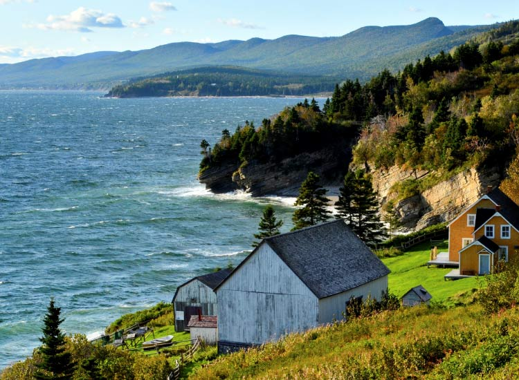 The Gaspe Peninsula, which juts out into the Gulf of St. Lawrence // © 2015 Tourism New Brunswick
