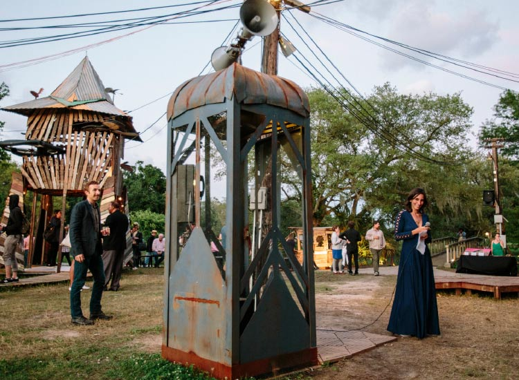 "Some 10,000 people visited the ""Music Box"" art installation. // © 2015 The Music Box"