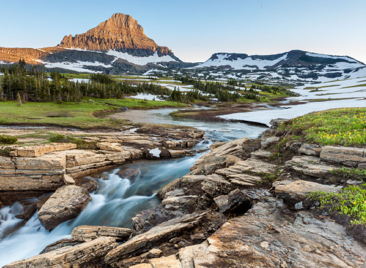 Glacier National Park offers trekkers more than 700 miles of trails through Montana's Rocky Mountains. // © 2016 Yankee Holidays