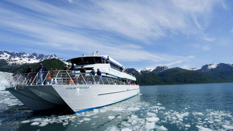 A cruise tour out of Seward taking in the tidewater glaciers of the Kenai Peninsula, about a 90 min drive from Girdwood // © 2017 Christopher Batin