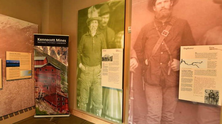 Part of an area history exhibit at the Wrangell-St. Elias National Park HQ north of Valdez, near Glennallen // © 2017 Christopher Batin