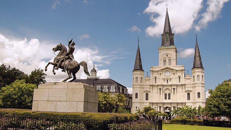 On April 17, the Archdiocese of New Orleans will present a Tricentennial Interfaith Prayer Service at the iconic St. Louis Cathedral, located in Jackson Square. // © 2018 Getty Images