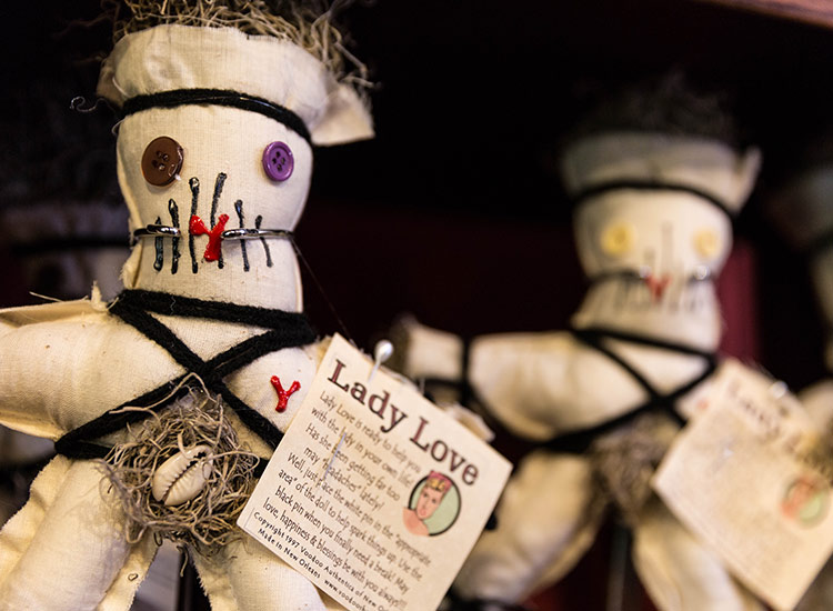 Don't leave without taking home a voodoo doll souvenir. // © 2018 Zack Smith