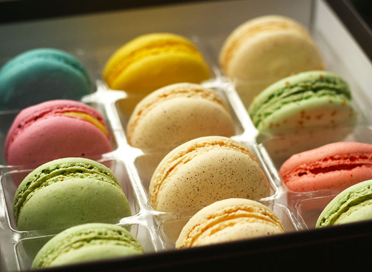 Maison De Macarons has nearly 50 flavors and makes all its macarons locally. // © 2014 Nila Do Simon