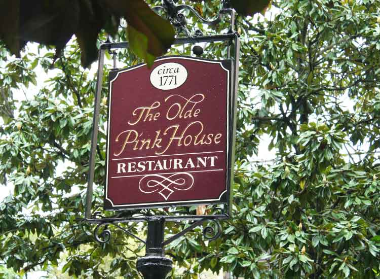 The Olde Pink House was founded in 1771 and remains one of the best places to eat in Savannah. // © 2014 Nila Do Simon