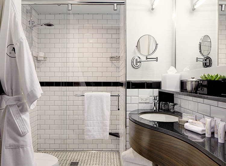 Bathrooms feature Malin+Goetz — just one of the hotel's hip brand partners. // © 2016 Archer Hotel New York