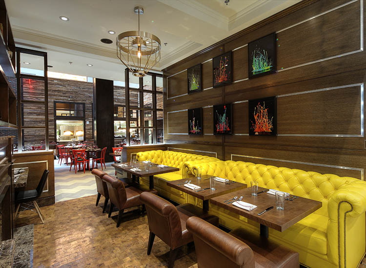 Adjacent to the lobby is David Burke Fabrick restaurant. // © 2016 Archer Hotel New York