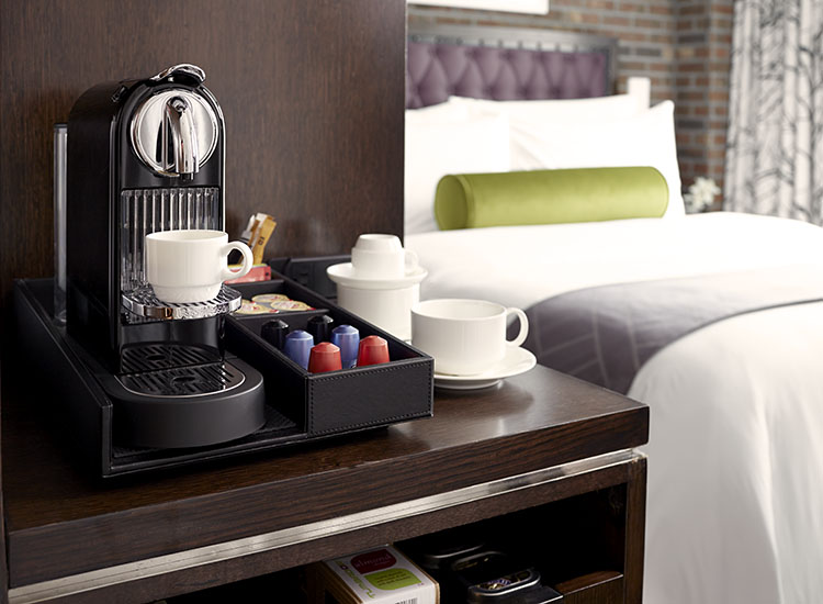 In-room amenities include a Nespresso machine, local turndown treats and more. // © 2016 Archer Hotel New York
