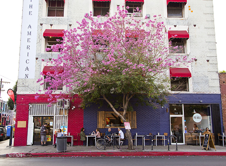 With help from hot restaurants and cafes such as The Pie Hole, the Los Angeles neighborhood has skyrocketed in popularity. // © 2015 Matt Marriott/Los Angeles Tourism & Convention Board