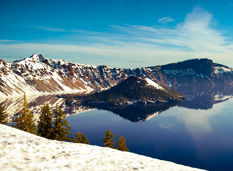 The national park's namesake Crater Lake formed after Mount Mazama erupted some 8,000 years ago and collapsed within itself. // © 2016 Creative Commons user scpgt
