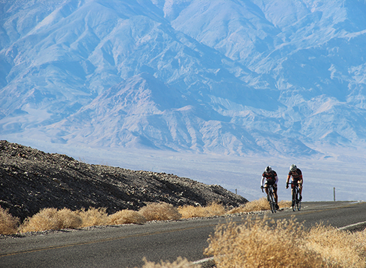 Death Valley's roads are smooth and often free of traffic, making it an ideal park for cycling trips. // © 2016 Bicycle Adventures