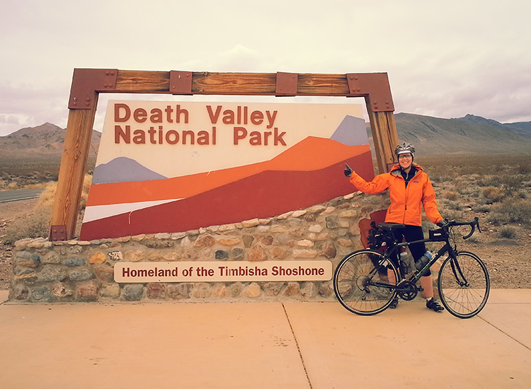 California's Death Valley National Park offers many varied landscapes and is best visited in non-summer months when temperatures aren't too hot. // © 2016 Bicycle Adventures