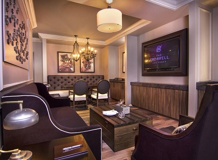 The Cromwell, the Las Vegas Strip's newest boutique hotel, offers 11 723-square-foot Parlour Suites. // © 2014 Caesars Entertainment