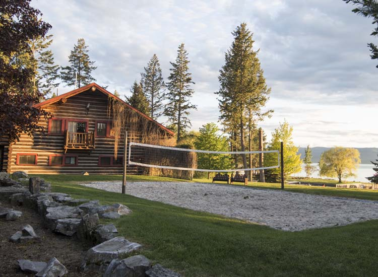 Volleyball, sailing, horseback riding and biking are among the many activities offered at Flathead Lake Lodge. // © 2017 Mindy Poder