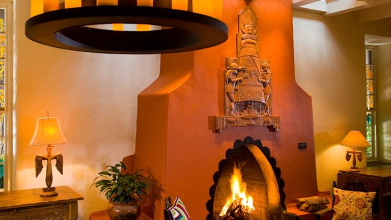 La Fonda features original Native American art, and no two rooms are alike. // © 2014 Chris Corrie