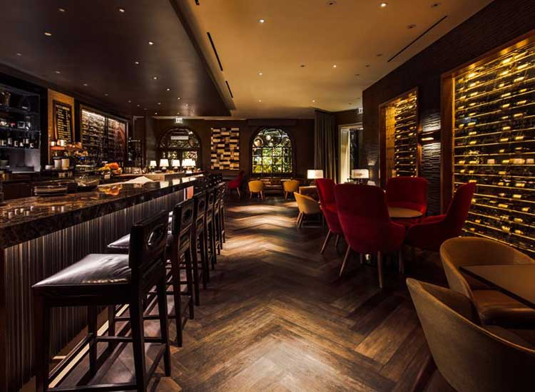 Vinoteca, a new Italian wine bar and espresso cafe, opened last October. // © 2017 Four Seasons Hotel Los Angeles at Beverly Hills